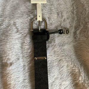 Michael Kors womens padlock charm belt